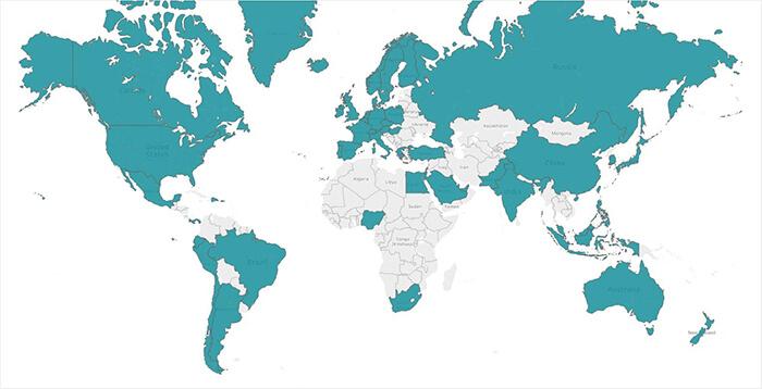 Beresford Research Global Reach